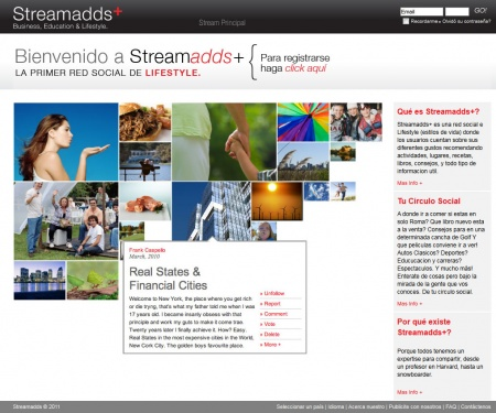 Streamadds + home. An exclusive network for only a select group of members.